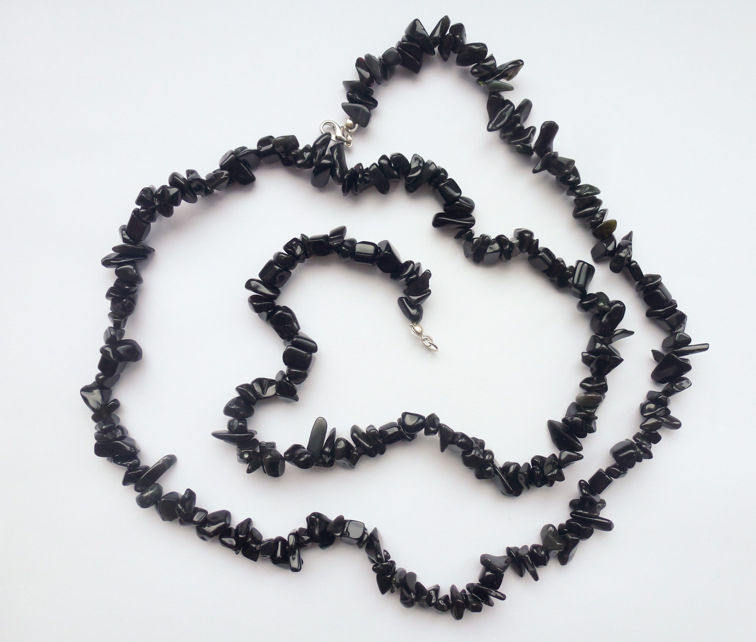 black obsidian necklace 32 quot for