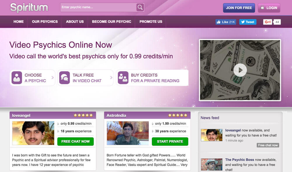 Spiritum psychic readings review