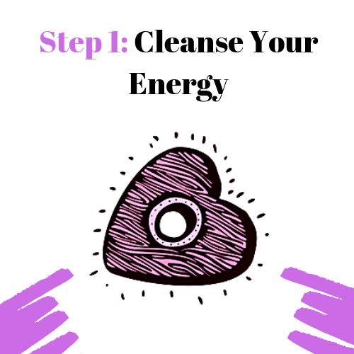 Step 1: Cleans your energy