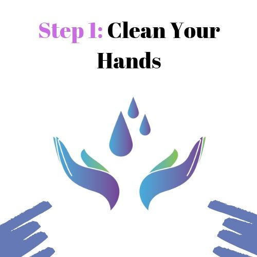 Step 1: Clean Your Hands