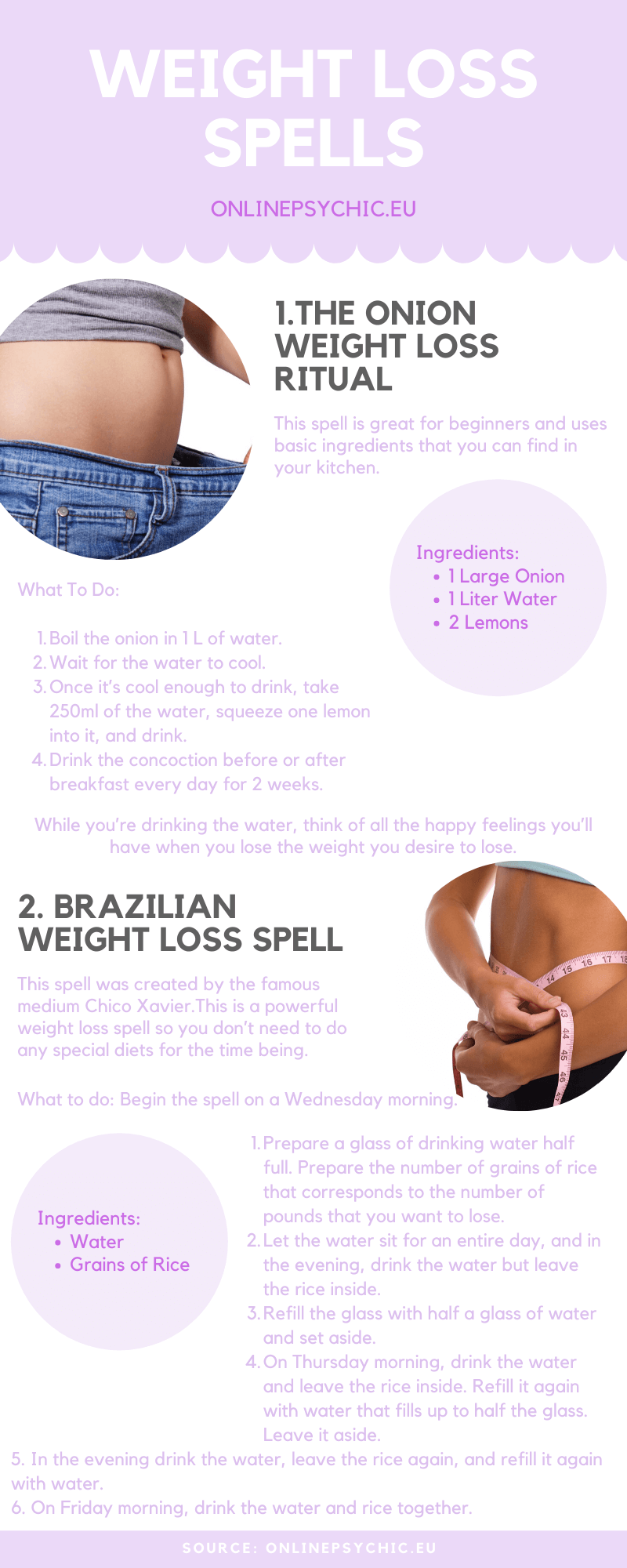 infographic weight loss spells that work overnight