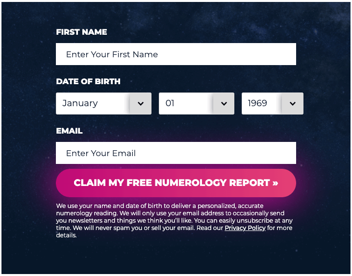 Personalized numerology report